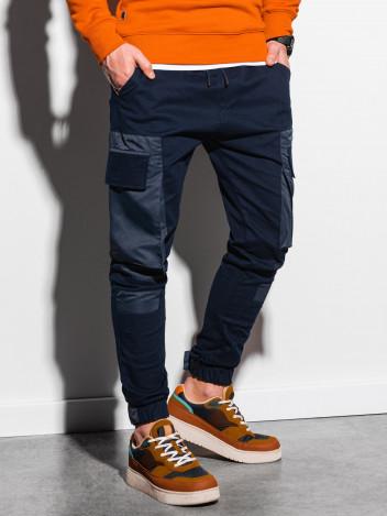 Ombre Clothing Pánské jogger kalhoty Efin navy