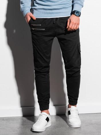 Ombre Clothing Pánské jogger kalhoty Edmund černá