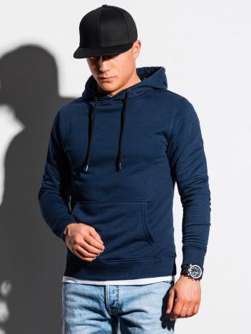 Ombre Clothing Pánská mikina s kapucí Bengt navy