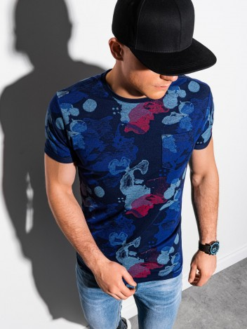 Pánské tričko s potiskem Tiburtius tmavě modrá