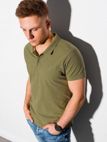 Pánské basic polo tričko Douglas olivová