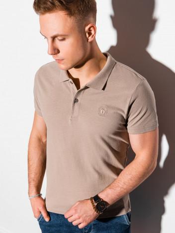 Pánské basic polo tričko Douglas světle hnědá