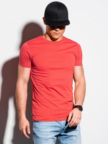 Pánské basic tričko Elis korálová