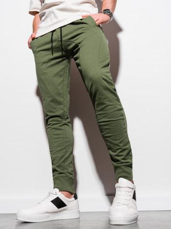 Ombre Clothing Pánské tepláky Styborn khaki