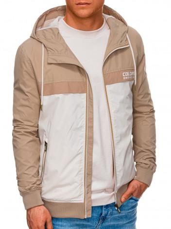 Ombre Clothing Pánská přechodová bunda Firenze béžová