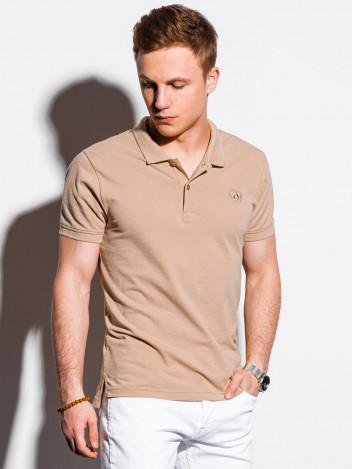 Ombre Clothing Pánské basic polo tričko Douglas béžová
