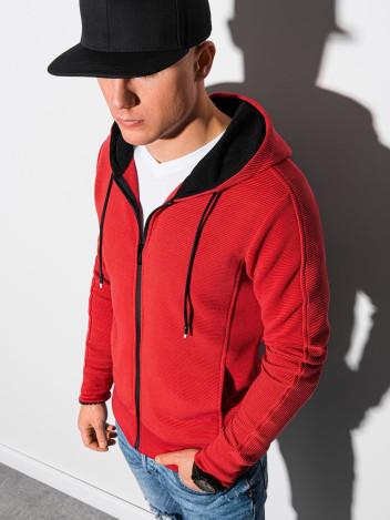 Ombre Clothing Pánská mikina na zip Blend červená