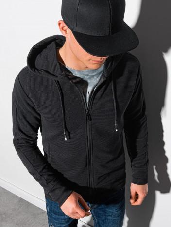 Ombre Clothing Pánská mikina na zip Blend černá