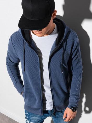 Ombre Clothing Pánská mikina na zip Blend modrá
