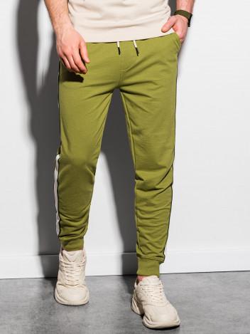 Ombre Clothing Pánské tepláky Mart olivová