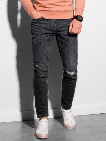 Ombre Clothing Pánské džíny Svante černá