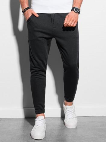Ombre Clothing Pánské tepláky Davido černá