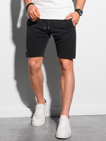 Ombre Clothing Pánské teplákové kraťasy Evert černá