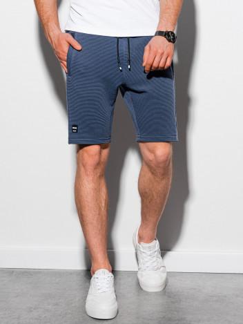 Ombre Clothing Pánské teplákové kraťasy Evert tmavě modrá