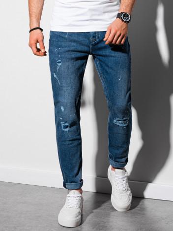 Ombre Clothing Pánské džíny Alof modrá