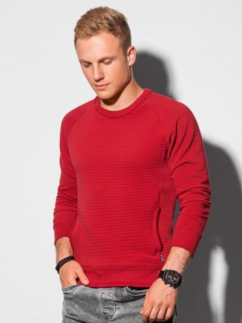 Ombre Clothing Pánská mikina Paulini červená