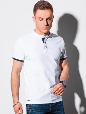Ombre Clothing Pánské basic polo tričko Rosa bílá