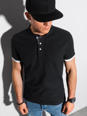 Ombre Clothing Pánské basic polo tričko Rosa černá