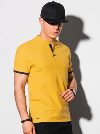 Ombre Clothing Pánské basic polo tričko Rosa žlutá