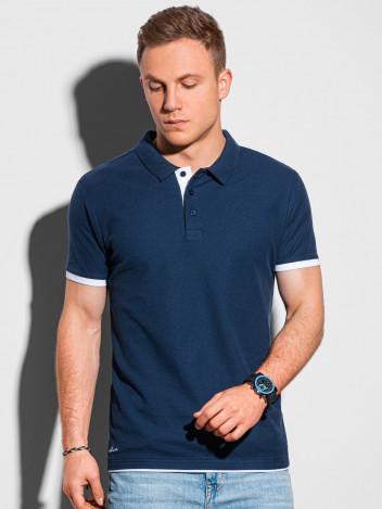 Ombre Clothing Pánské basic polo tričko Aron navy