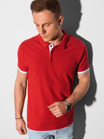 Pánské basic polo tričko Aron červená