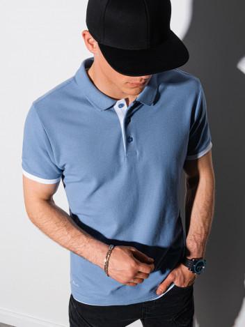 Pánské basic polo tričko Aron modrá