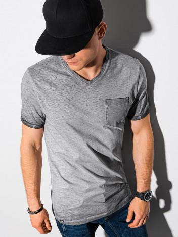 Ombre Clothing Pánské basic tričko Peterin šedá