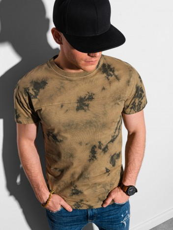 Ombre Clothing Pánské basic tričko Margaret hnědá