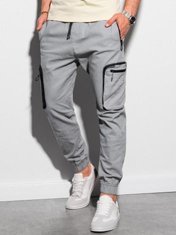 Pánské jogger kalhoty Kristit šedá