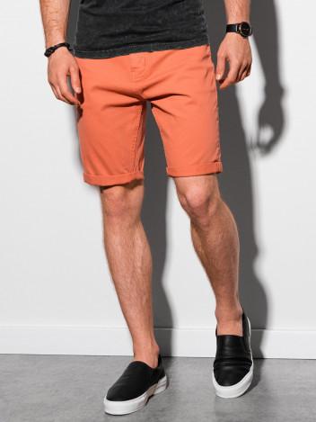 Ombre Clothing Pánské casual kraťasy Finn cihlově červená