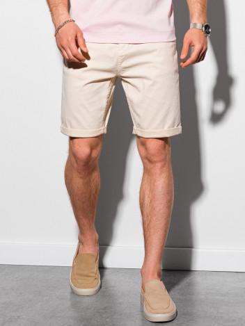 Ombre Clothing Pánské casual kraťasy Finn světle béžová