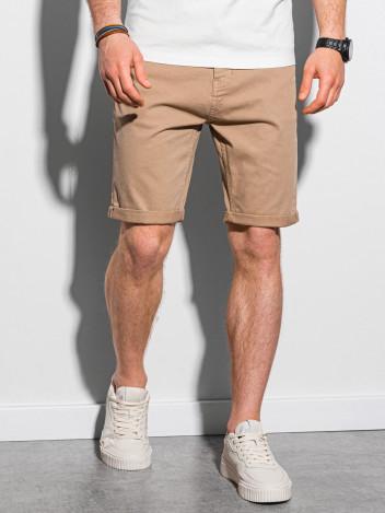 Ombre Clothing Pánské casual kraťasy Finn tmavě béžová