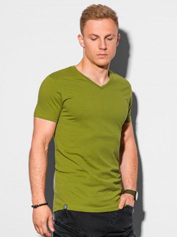Pánské basic tričko Oliver olivová