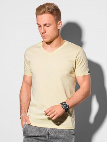 Pánské basic tričko Oliver světle žlutá