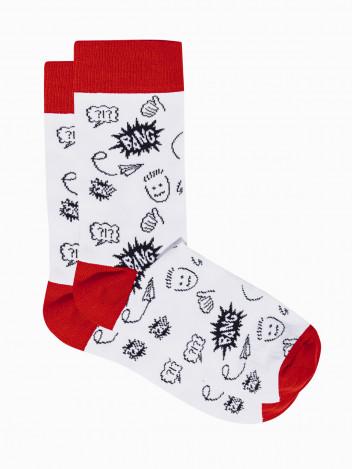 Ombre Clothing Pánské ponožky Tage bílá