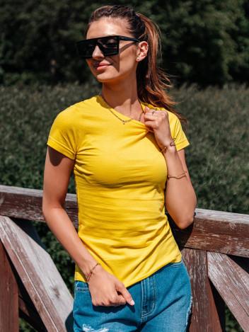 Edoti Dámské basic tričko Meinrad žlutá