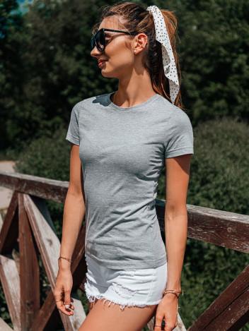Edoti Dámské basic tričko Meinrad šedá