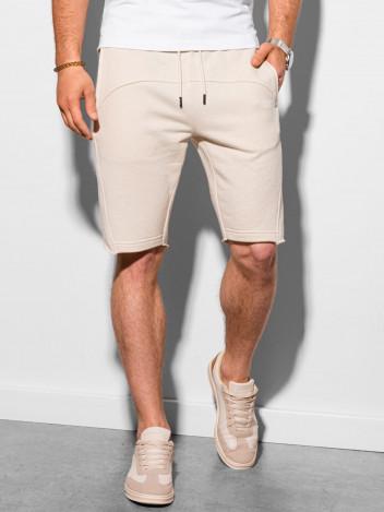 Ombre Clothing Pánské teplákové kraťasy Stellan bílá