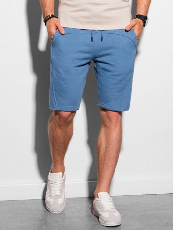 Ombre Clothing Pánské teplákové kraťasy Stellan modrá