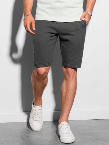 Ombre Clothing Pánské teplákové kraťasy Stellan tmavě šedá