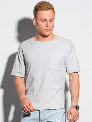 Pánské basic tričko Milae světle šedá