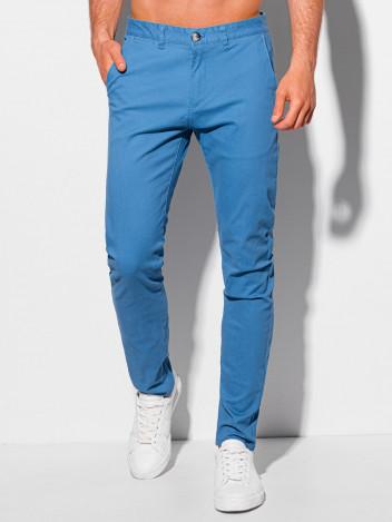Edoti Pánské kalhoty chino Winfried modrá