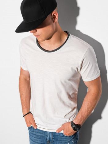 Ombre Clothing Pánské tričko s potiskem Vibeke bílá