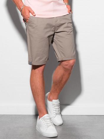 Ombre Clothing Pánské casual kraťasy Raken béžová