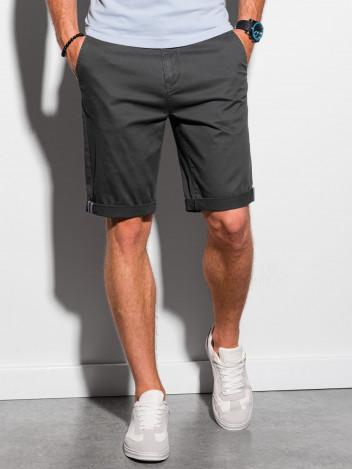 Ombre Clothing Pánské casual kraťasy Raken černá
