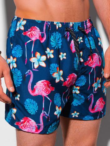 Ombre Clothing Pánské koupací šortky Gudrun tmavě modrá