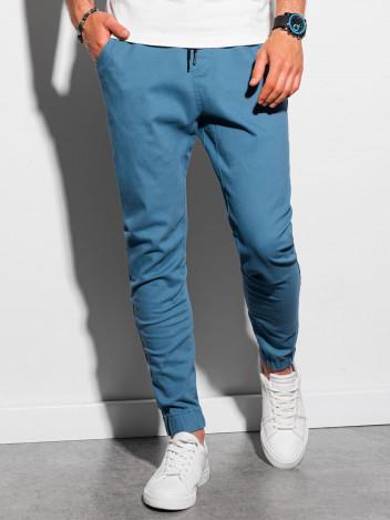 Ombre Clothing Pánské jogger kalhoty Jordie modrá