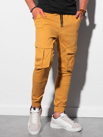 Ombre Clothing Pánské jogger kalhoty Beauden hořčicová