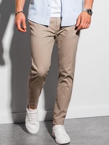 Ombre Clothing Pánské chinos kalhoty Ellis béžová