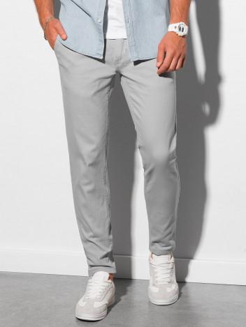 Ombre Clothing Pánské chinos kalhoty Orlando světle šedá